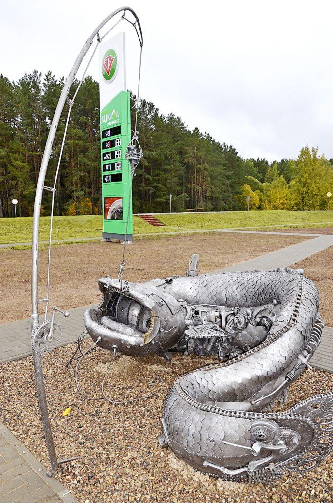 У курортным пасёлку з'явілася сучасная аўтазаправачная станцыя