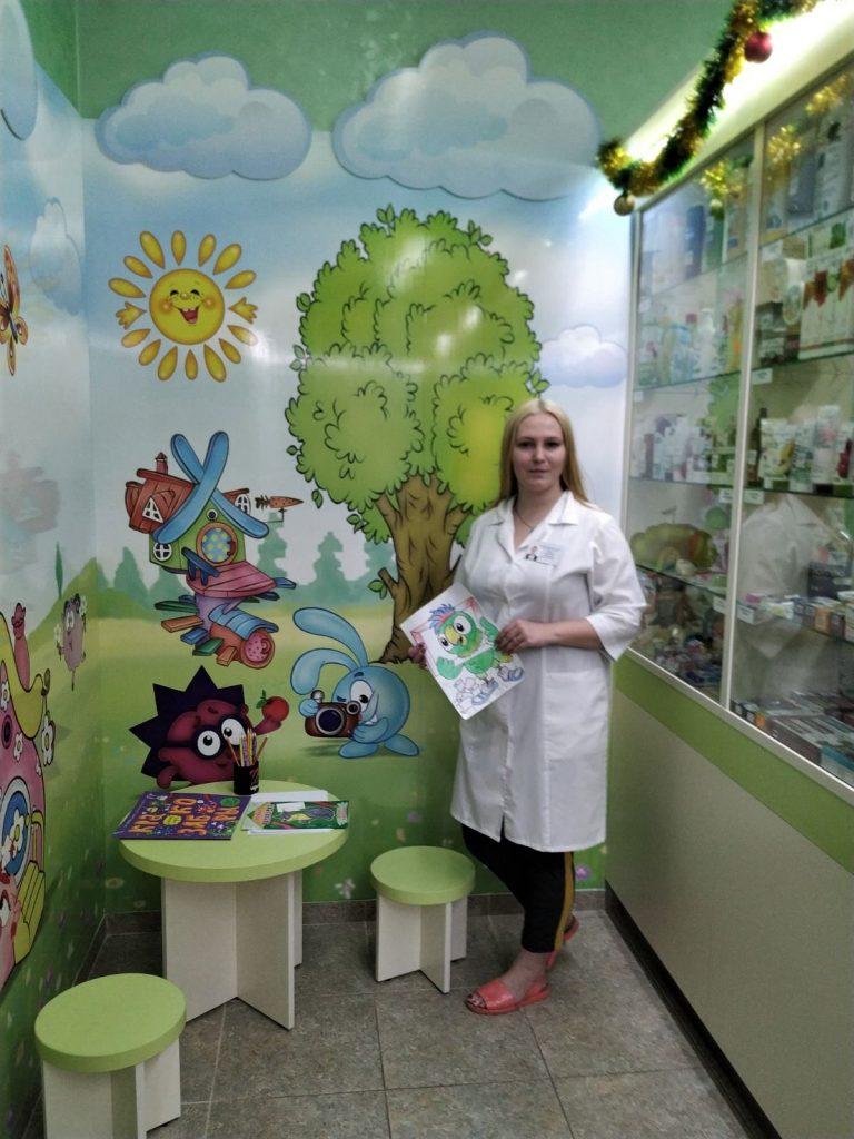 Детская зона появилась в аптеке в мядельской поликлинике