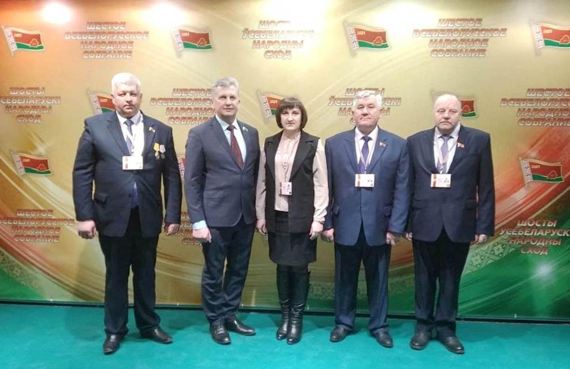 Делегаты от Мядельского района принимают участие в работе Всебелорусского народного собрания