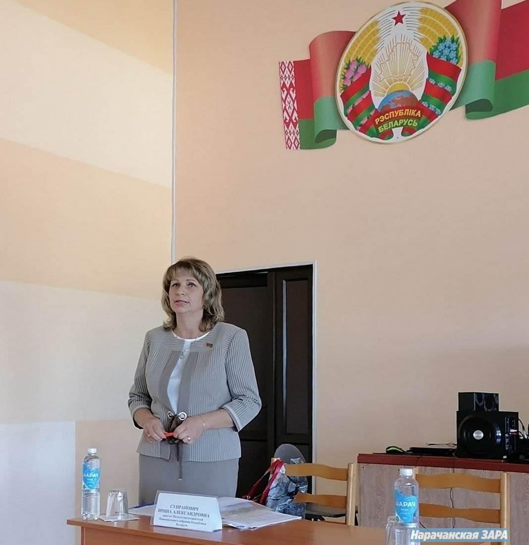 Ирина Супранович встретилась с коллективом Мядельской СШ №1 имени Владимира Дубовки